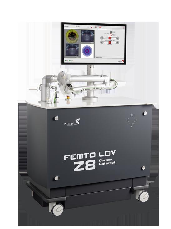 Packshot des FEMTO-LDV Z8 der Firma Ziemer.