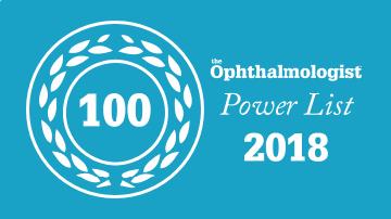 Siegel der Power List 2018 des Ophthalmologist