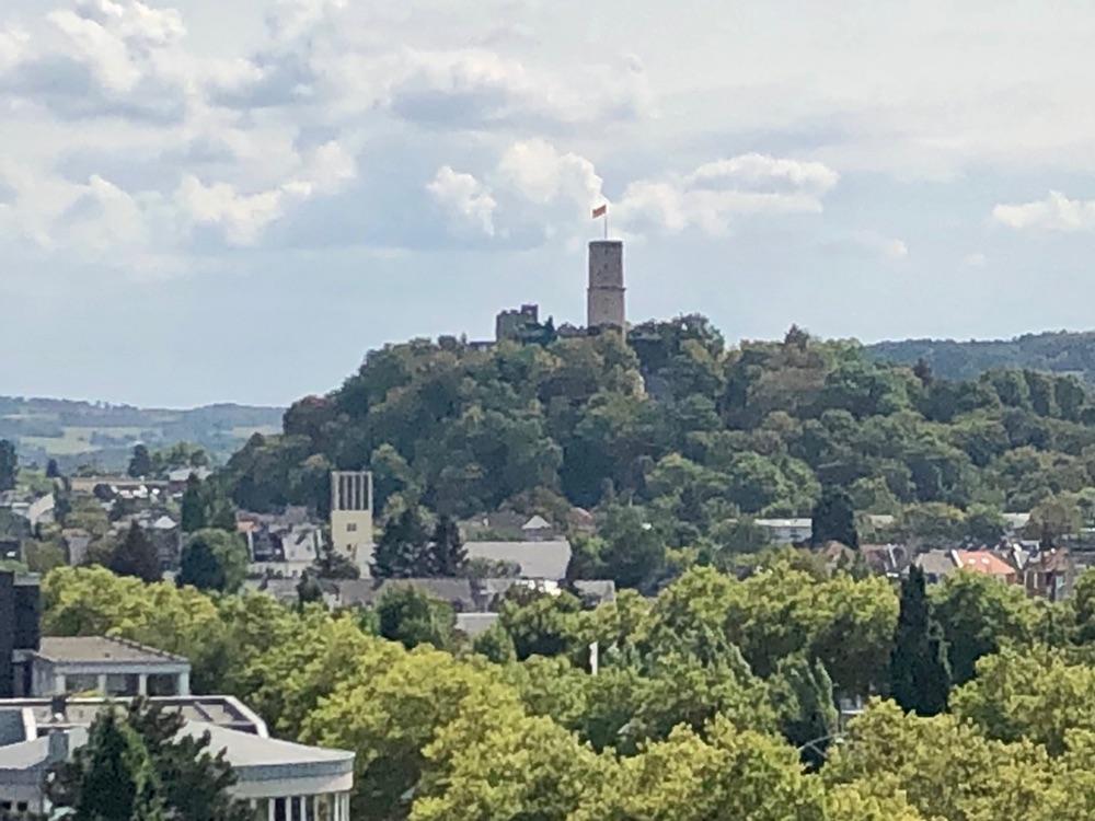Blick auf die Ruine der Godesburg in Bonn.