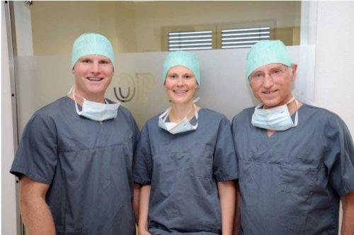 Dr. Christoph Eckert, Dr. Sophie Eckert und Dr. Georg Eckert.